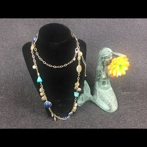 Chicos vintage 38 inch chain necklace-turquoise